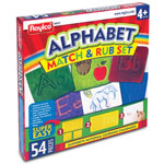 Roylco Alphabet Match/Rub Set, 54/PK, Clear