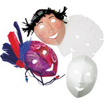 "Roylco Folding Fun Masks, 8-1/4"" x 10-1/2"", 40/PK, White"
