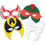 Roylco Super Hero Masks, Ages 4-Up, 24/PK, White