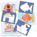 "Roylco Child's First Stencil Set, 7"" x 8"", 15/PK, Ast"