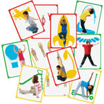 "Roylco Body Poetry Yoga Cards, 8-1/2"" x 11"", 16/PK, Assorted"