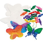 Roylco Butterfly Ornaments Kit, 75/PK, Assorted