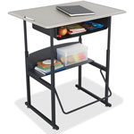 "Safco Alphabetter Adjustable Stand-Up Desk, 36"" x 24"" x 42"", Black/Gray"