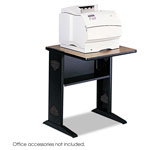 Safco Fax/Printer Stand with Reversible Woodgrain Top/Black Base, 24wx28dx30h