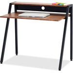 Safco Writing Desk, 37 3/4 x 22 3/4 x 34 1/4, Natural/Black