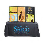 Safco Portable Tabletop Display, Fabric Covered Plastic, 53 x 37, Black