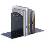 Safco Steel Bookend, 10w x 6 1/2d x 10 1/2h, Black