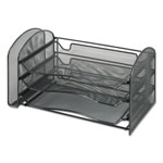 "Safco Mesh Desktop Organizer with Sliding Trays, 16-1/4""x9""x8"""