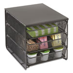 "Safco 3 Drawer Hospitality Organizer, 7 Compartments, 8 1/2""w x 11 1/4""d x 8 1/2""h, BK"