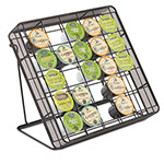 "Safco Stand-up Hospitality Organizer, 25 Compartments, 10""w x 2""d x 11""h, Black"