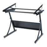 "Safco PlanMaster Drafting Table Base, Spring Assist, 27 3/4"" to 37 1/2""H, Black Steel"