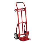 Safco Two Way Convertible Steel Hand Truck, 300 400 lb. Capacity, Red