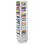 "Safco Rotary Magazine Rack, 92 Pockets, 13-1/4""x13-1/4""x67-5/8"", Gray"