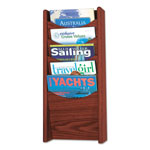 "Safco Literature Display Rack, 5 Pockets, 11"" x 3-3/4"" x 24"", Mahogany"