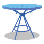 "Safco CoGo Tables, Steel, Round, 30"" Diameter x 29 1/2"" High, Blue"