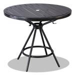 "Safco CoGo Tables, Steel, Round, 36"" Diameter x 29 1/2"" High, Black"