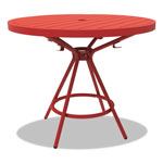 "Safco CoGo Tables, Steel, Round, 36"" Diameter x 29 1/2"" High, Red"