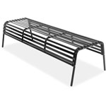 "Safco Indoors/Outdoors Bench, Steel, 60"" W x 25"" D x 30"" H, Black"