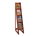 "Safco Bamboo Magazine/Pamphlet Floor Display, 10""x18 1/4""x56 1/2"", Cherry"
