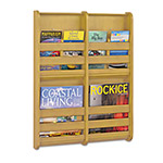 "Safco Bamboo Magazine/Pamphlet Wall Display, 19 1/2""x1 3/4""x25 1/2"", Natural"