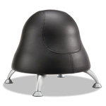 "Safco Runtz Ball Chair, 12"" Diameter x 17"" High, Black Vinyl"