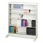 Safco A/V Adjustable Open Shelving, 6 Shelves, 36w x 13-1/4d x 41h, Light Gray
