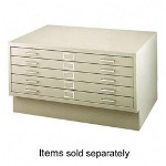 "Safco Five-Drawer Flat File, 53"" x 41"" x 16"", Beige"