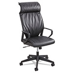 "Safco High Back Exec Chair, 26""x26""x45 to 48-1/2"", BK Leather"
