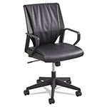 "Safco Mid Back Exec Chair, 22""x21-3/4""x35-1/2"", BK Leather"