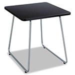 "Safco Anywhere End Table, 20""x20""x19 1/2"", Black/Silver"