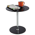 "Safco Glass Accent Table, 17-1/2""x17-1/2""x19"", Black"
