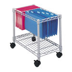 Safco Steel Wire File Cart with Letter & Legal Size, Gray