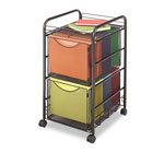 Safco Mesh File Cart, Black