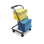 Safco Jazz File Cart with Two Tier, Black