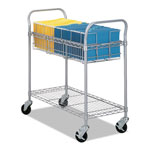Safco Steel Mail Cart, 150 Folder Capacity, 18 3/4w x 39d x 38 1/2h, Metallic Gray