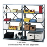 "Safco Commercial Open Shelving Unit, 36"" x 24"", Gray"