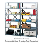"Safco Commercial Shelving Post Kit, for 75"" High Steel Shelving, Gray"