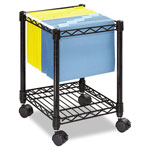 Safco Locking File Cart, Black