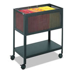 Safco Steel Mesh File Cart with Open Top, Black