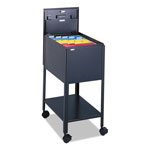 Safco Mobile File Cart with Letter Size, Black