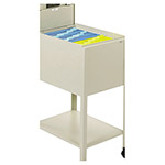 Safco Mobile File Cart with Letter Size, Beige