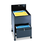 Safco Rollaway File Cart with Legal Size, Black