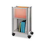 Safco Impromptu Mobile Storage Center, 16-1/2w x 11d x 26-3/4h, Metallic Gray
