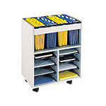 Safco GoCarts File Cart with File Tub, Gray
