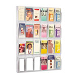 Safco Clear Plastic Literature Display Wall Rack for 24 Pamphlets, 30w x 41h