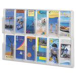Safco Clear Plastic Literature Display Wall Rack for 12 Pamphlets, 30w x 20 1/2h