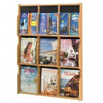 "Safco Literature Rack, 6 Pocket/Pamphlet, 29-1/4""x2-1/2""x38-1/2"", OK"