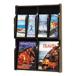 Safco Six-Pocket Wood Literature Display, 19-3/4w x 26h, Mahogany