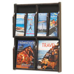 Safco Six-Pocket Wood Literature Display, 19-3/4w x 26h, Light Oak