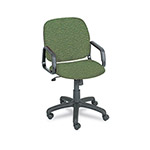 Safco Cava Urth Collection High Back Swivel/Tilt Chair, Green